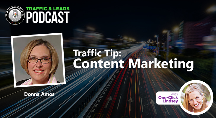 Donna Amos Traffic Tip: Web Content Marketing