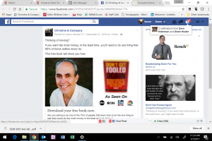 Facebook Ad for Book Don't Get Fooled Again