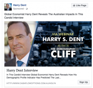 Harry Dent Facebook Post Ad 2
